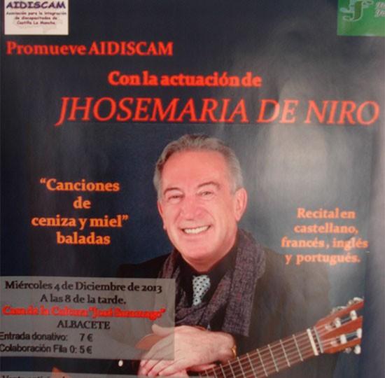 """Gala Concierto de JHoseMaría de Niro """"Canciones de Ceniza y Miel"""""""